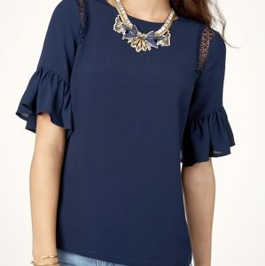 Maette Margo lace bell sleeve blouse